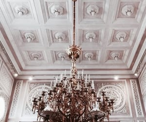 chandelier, architecture, and interior image