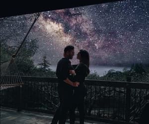 couple, love, and stars image