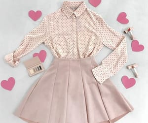 girly, pink, and cute outfit image