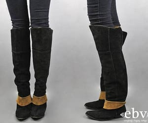 black boots, brown boots, and etsy image