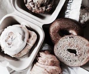 food, bagel, and theme image