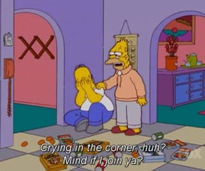 simpsons, sad, and the simpsons image