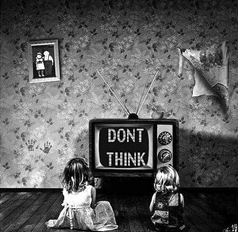 tv, black and white, and think image