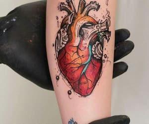 heart, tattoo, and art image