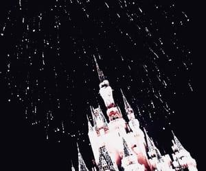 dark, castle, and light image