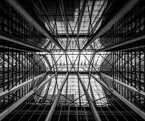 abstract photography, b&w, and urban image