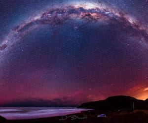 milky way, space, and galaxy image