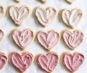 food, pink, and hearts image