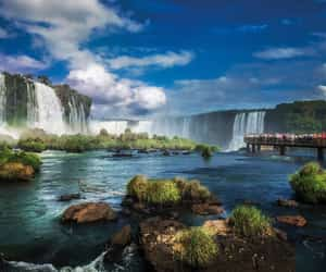 falls, paradise, and waterfalls image