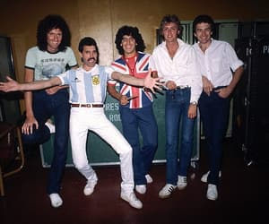 Queen, argentina, and Maradona image