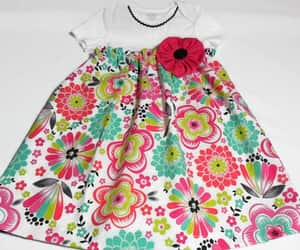 etsy, girls clothing, and pink dress image