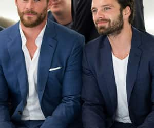 sebastian stan, chris hemsworth, and thor image