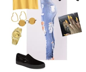 black, nails, and Polyvore image