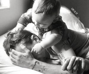 baby, harry, and daddy image
