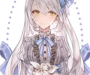 adorable, anime, and blue ribbon image