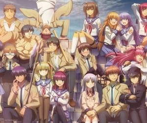 anime, sad, and angel beats image