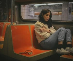 grunge, sad, and train image