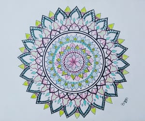 art, mandala, and zentagle image