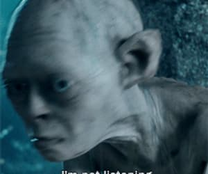 gif, gollum, and lord of the ring image