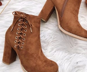 boots, brown, and footwear image
