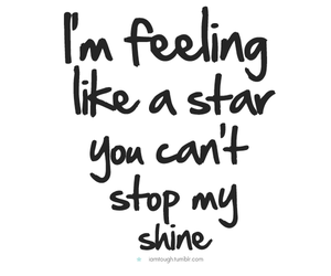 shine, star, and text image