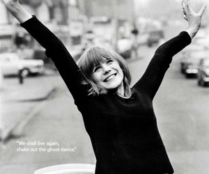 happy, 60s, and marianne faithfull image
