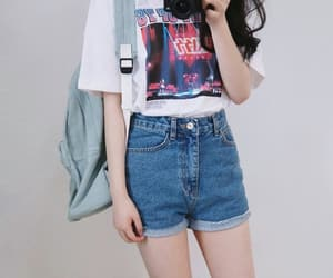 girl, korean, and outfit image