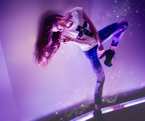 galaxy, girl, and style image