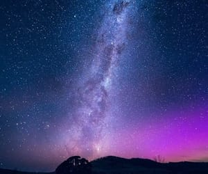 milky way, night, and space image
