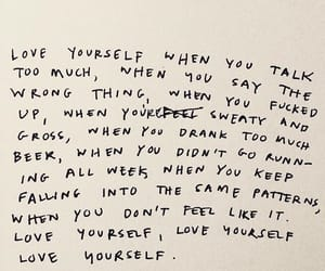 quotes, words, and love yourself image