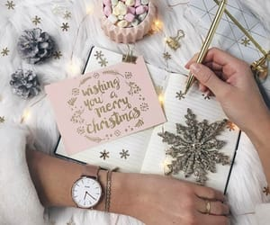 clock, pastell, and christmascard image