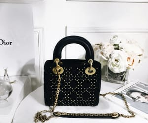 black, dior, and handbag image