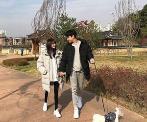 asian, couple, and fashion image