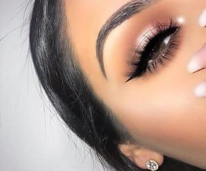 beautiful, brown eyes, and eye liner image