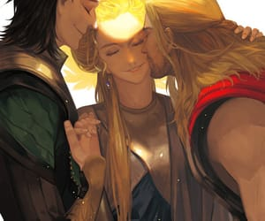 family, thor, and loki image