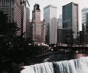 city, photography, and waterfall image