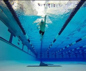 sport, swimmer, and swimming image