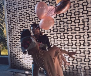 balloons, couple, and dress image