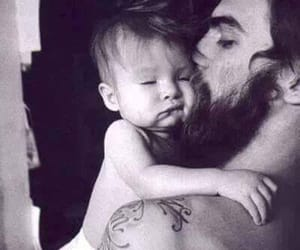 dad, son, and love image