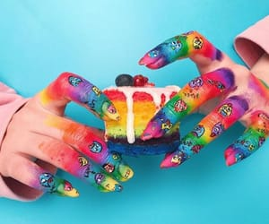 80s, rainbow, and finger paint image