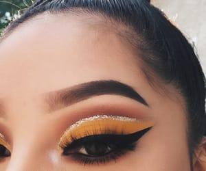 aesthetic, glitter, and smokey eyes image