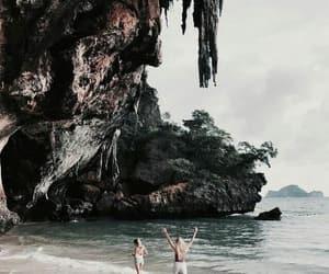 beach, beautiful, and girls image