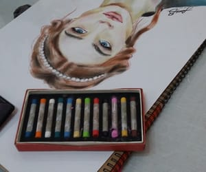 art, colorful, and girl image