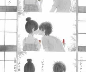 anime, couple, and watermelon image