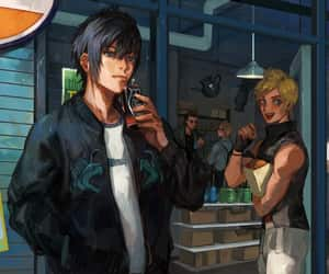 fan art, gas station, and noctis lucis caelum image