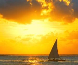 boats, ocean, and sailing image
