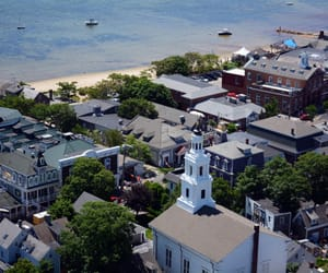 aerial, coast, and provincetown image
