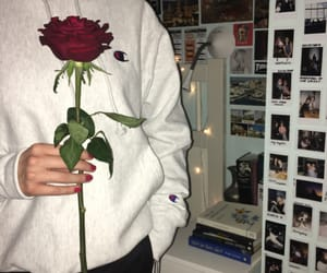 bedroom, clothes, and rose image