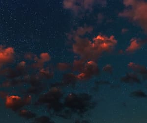 sky, clouds, and night image