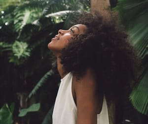 hair, nature, and Afro image